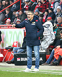 01.12.2018, Stadion an der Wuhlheide, Berlin, GER, 2.FBL, 1.FC UNION BERLIN  VS.SV Darmstadt 98, <br /> DFL  regulations prohibit any use of photographs as image sequences and/or quasi-video<br /> im Bild Cheftrainer (Head Coach) Urs Fischer(1.FC Union Berlin)<br /> <br /> <br />      <br /> Foto &copy; nordphoto / Engler