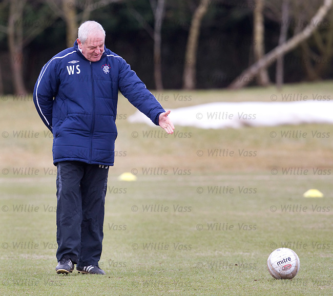 Walter Smith addresses a ball