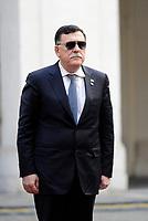 Roma, 20 Marzo 2017<br /> Il presidente del Consiglio riceve a Palazzo Chigi il Primo Ministro libico Fayez al-Sarraj.