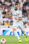 Karim Benzema of Real Madrid in action during their Supercopa de Espana Final 2nd Leg match between Real Madrid and FC Barcelona at the Estadio Santiago Bernabeu on 16 August 2017 in Madrid, Spain. Photo by Diego Gonzalez Souto / Power Sport Images