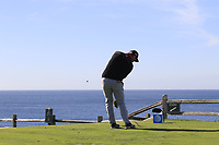 Jon Rahm (ESP) tees off the par3 7th tee during Sunday's Final Round of the 2018 AT&amp;T Pebble Beach Pro-Am, held on Pebble Beach Golf Course, Monterey,  California, USA. 11th February 2018.<br /> Picture: Eoin Clarke | Golffile<br /> <br /> <br /> All photos usage must carry mandatory copyright credit (&copy; Golffile | Eoin Clarke)