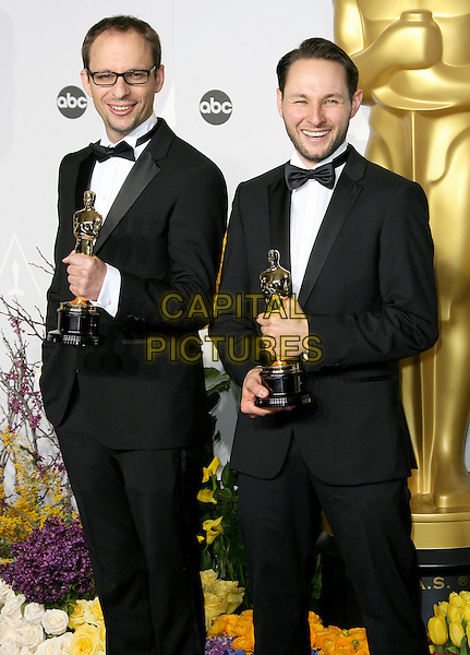 02 March 2014 - Hollywood, California - Laurent Witz, Alexandre Espigares. 86th Annual Academy Awards held at the Dolby Theatre at Hollywood &amp; Highland Center. <br /> CAP/ADM<br /> &copy;AdMedia/Capital Pictures