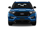 Car photography straight front view of a 2020 Ford Explorer ST 5 Door SUV Front View