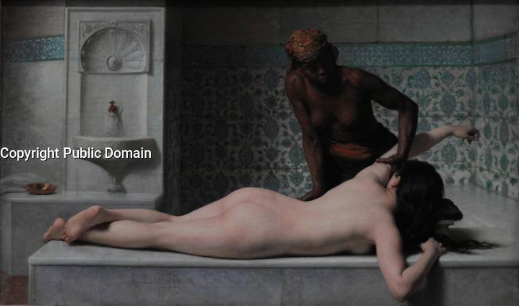 Le massage au Hamam par Edouard Debat-Ponsan 1883