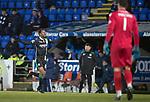 St Johnstone v Hibs&hellip;16.03.18&hellip;  McDiarmid Park    SPFL<br />Efe Ambrose celebrates his goal<br />Picture by Graeme Hart. <br />Copyright Perthshire Picture Agency<br />Tel: 01738 623350  Mobile: 07990 594431