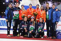 "SHORT TRACK: MOSCOW: Speed Skating Centre ""Krylatskoe"", 15-03-2015, ISU World Short Track Speed Skating Championships 2015, Team NETHERLANDS, ©photo Martin de Jong"