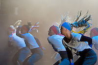 Dancers performing on the stage during the opening ceremony. Photo: Kim Rask/Scouterna