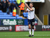 Bolton Wanderers' goal scorer Gary O'Neil applauds his side's supporters at the end of the match <br /> <br /> Photographer Andrew Kearns/CameraSport<br /> <br /> The EFL Sky Bet Championship - Bolton Wanderers v Millwall - Saturday 9th March 2019 - University of Bolton Stadium - Bolton <br /> <br /> World Copyright © 2019 CameraSport. All rights reserved. 43 Linden Ave. Countesthorpe. Leicester. England. LE8 5PG - Tel: +44 (0) 116 277 4147 - admin@camerasport.com - www.camerasport.com