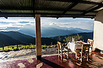 Breakfast table at a small family ranch in the Sierra Nevada de Santa Marta.  The Sierra Nevada de Santa Marta is one of the most biodiverse regions on the planet, home to 440 species of birds, 44 of which are endemic to the region.