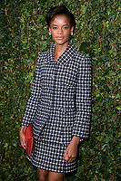 Letitia Wright arriving for the 2018 Charles Finch &amp; CHANEL Pre-Bafta party, Mark's Club Mayfair, London, UK. <br /> 17 February  2018<br /> Picture: Steve Vas/Featureflash/SilverHub 0208 004 5359 sales@silverhubmedia.com