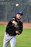 Dallas Newton (29) of the Missoula Osprey prior to the game against the Ogden Raptors in Pioneer League action at Lindquist Field on August 4, 2014 in Ogden, Utah.  (Stephen Smith/Four Seam Images)