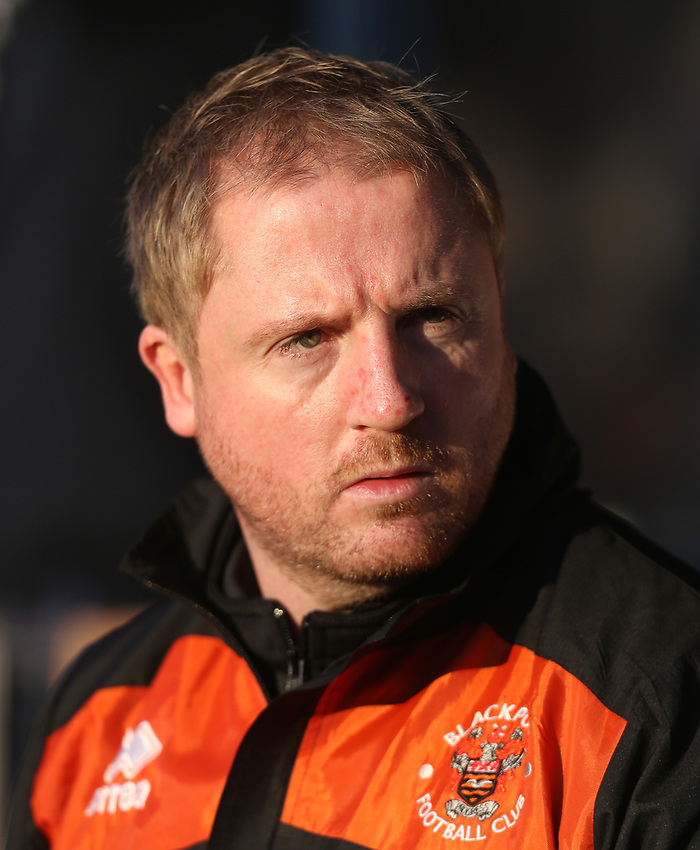 Blackpool first team coach Ian Dawes<br /> <br /> Photographer Rob Newell/CameraSport<br /> <br /> The EFL Sky Bet League One - Southend United v Blackpool - Saturday 17th November 2018 - Roots Hall - Southend<br /> <br /> World Copyright © 2018 CameraSport. All rights reserved. 43 Linden Ave. Countesthorpe. Leicester. England. LE8 5PG - Tel: +44 (0) 116 277 4147 - admin@camerasport.com - www.camerasport.com