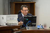 RIO DE JANEIRO, RJ, 29.09.2014. JULGAMENTO STDJ - Auditor Washington Rodrigues de Oliveira, durante julgamento no Supremo Tribunal de Justiça Desportiva (STJD), realizado no Centro da cidade, nesta segunda-feira, 29. (Foto: Gustavo Serebrenick / Brazil Photo Press).