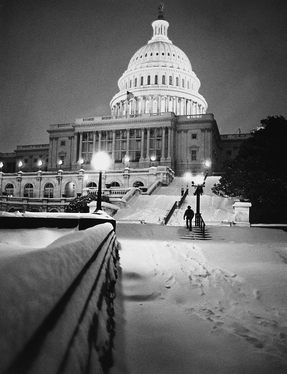 Exterior of Capitol Hill. (Photo by Keith Jewell/CQ Roll Call via Getty Images)