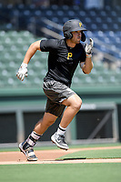 "Catcher Kyle Wilkie was one of several former Clemson baseball players now in the pros who worked out this month at Fluor Field while individual team workouts were suspended during the coronavirus pandemic. He played in a ""Sandlot""-style game on Thursday June 25, 2020. Wilkie was a 12th-round pick by Pittsburgh in 2019 and spent last season with the West Virginia Black Bears. (Tom Priddy/Four Seam Images)"