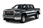 2017 GMC Sierra-1500 Crew-SLE 4 Door Pickup Angular Front stock photos of front three quarter view