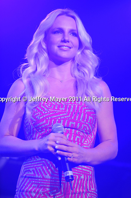 LOS ANGELES, CA - MAY 14: Britney Spears speaks at KIIS FM's 2011 Wango Tango Concert at Staples Center on May 14, 2011 in Los Angeles, California.
