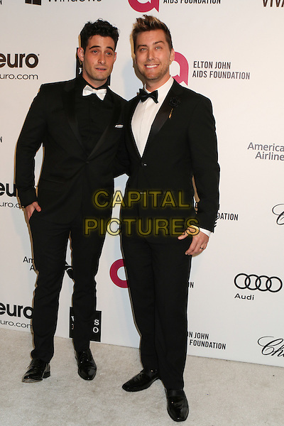 WEST HOLLYWOOD, CA - MARCH 2: Michael Turchin, Lance Bass attending the 22nd Annual Elton John AIDS Foundation Academy Awards Viewing/After Party in West Hollywood, California on March 2nd, 2014.  <br /> CAP/MPI/mpi99<br /> &copy;mpi99/MediaPunch/Capital Pictures