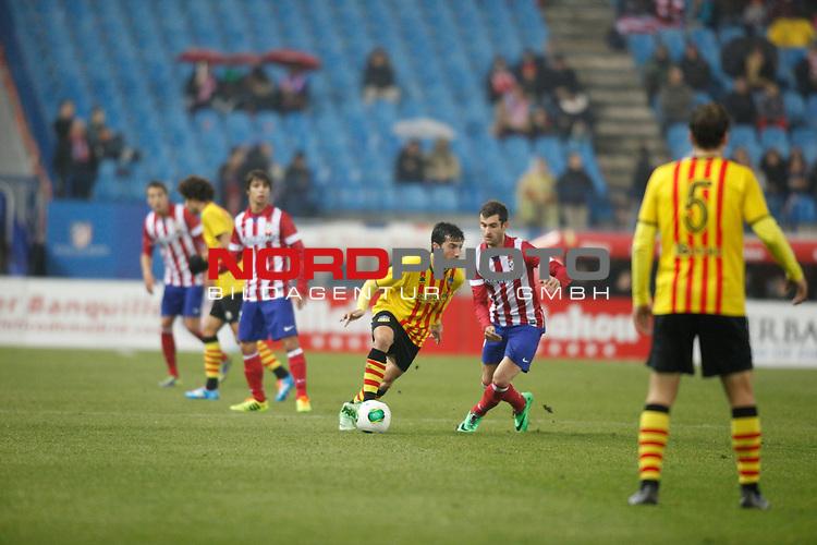 Atletico de Madrid¬¥s  and Saint Andreu¬¥s  during Copa del Rey 2013-14 match at Vicente Calderon Stadium in Madrid, Spain. Foto © nordphoto / Victor Blanco) *** Local Caption ***