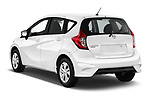Car pictures of rear three quarter view of a 2018 Nissan Versa Note S 5 Door Hatchback angular rear
