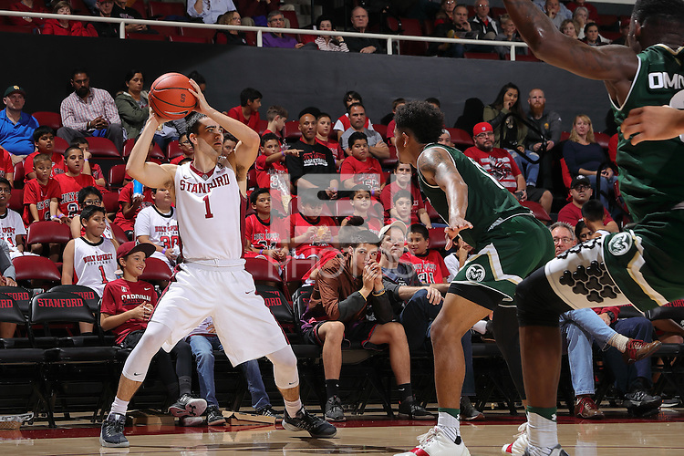 STANFORD, CA - November 20, 2016: Stanford wins 56-49 over Colorado State at Maples Pavilion.