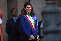 Rome, Italy, March 25,2017. Rome's Mayor Virginia Raggi during arrivals for an EU summit at the Palazzo dei Conservatori in Rome. EU leaders gather in Rome on Saturday to celebrate the 60th anniversary of the EU's founding treaty.