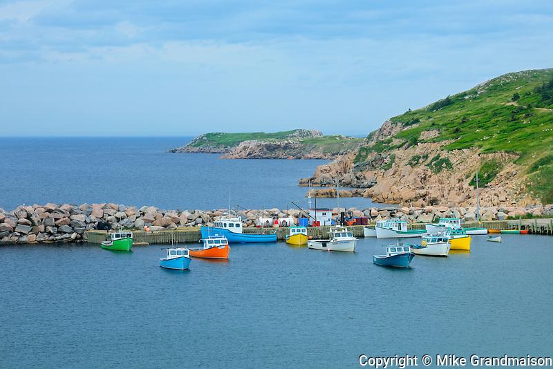 Fishing boats on Cape Breton<br /> White Point<br /> Nova Scotia<br /> Canada