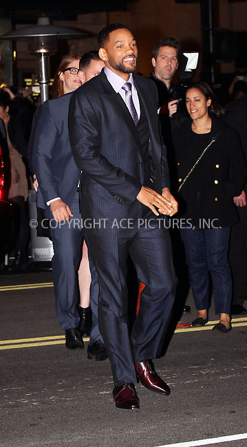 WWW.ACEPIXS.COM<br /> <br /> February 24 2015, Los Angeles Ca<br /> <br /> Actor Will Smith arriving at the premiere of 'Focus' at the TCL Chinese Theater on February 24, 2015 in Los Angeles, California.<br /> <br /> <br /> Please byline: Nancy Rivera/ACE Pictures<br /> <br /> ACE Pictures, Inc.<br /> www.acepixs.com, Email: info@acepixs.com<br /> Tel: 646 769 0430