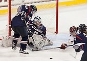 Jordy Zacharias (UConn - 21), Elaine Chuli (UConn - 29), Tori Sullivan (BC - 9) - The Boston College Eagles defeated the visiting UConn Huskies 4-0 on Friday, October 30, 2015, at Kelley Rink in Conte Forum in Chestnut Hill, Massachusetts.