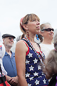 Angie Santiago of Durham, N.C. during the Moral Monday protest at the North Carolina State Legislature in Raleigh.