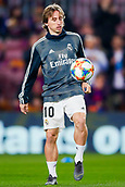 6th February 2019, Camp Nou, Barcelona, Spain; Copa del Rey football semi final, 1st leg, Barcelona versus Real Madrid;  Luka Modric of Real Madrid during the warm up