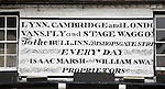 Old notice for stage coach travel from East Anglia to London, Ely, Cambridgeshire, England