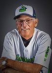 11 June 2019: Vermont Lake Monsters bench coach Rick Magnante poses for a portrait on Photo Day at Centennial Field in Burlington, Vermont. Magnante returns to Vermont having been the team Manager in 2012. The Lake Monsters are the Single-A minor league affiliate of the Oakland Athletics and play a short season in the NY Penn League Stedler Division. Mandatory Credit: Ed Wolfstein Photo *** RAW (NEF) Image File Available ***