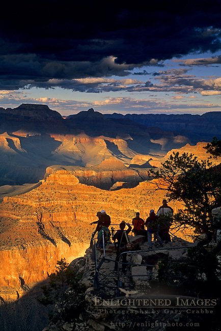 Sunset liight at the Grand Canyon, Yavapai Point, South Rim, Grand Canyon National Park, Arizona