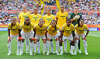 Starting Eleven of team Brazil during the FIFA Women's World Cup at the FIFA Stadium in Dresden, Germany on July 10th, 2011.