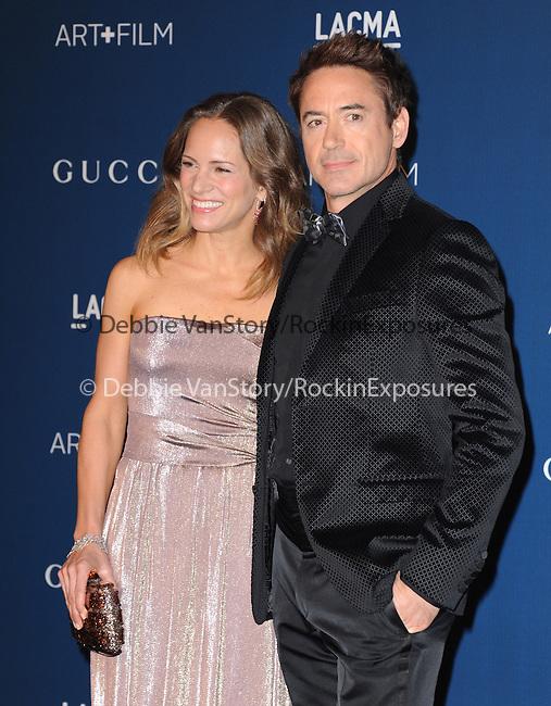 LOS ANGELES, CA - NOVEMBER 02: Robert Downey Jr. and Susan Downey arrives at  LACMA 2013 Art + Film Gala held at LACMA  in Los Angeles, California on November 02,2012                                                                               © 2013 Hollywood Press Agency