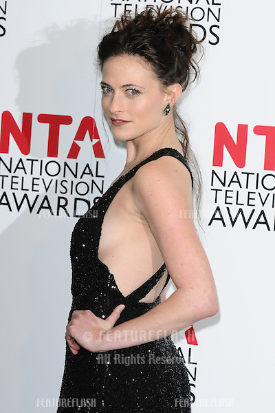 Lara Pulver in The Winners Room at the 2012 National Television Awards held at the O2 Arena in London  25/01/2012 Picture by: Steve Vas / Featureflash