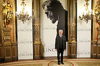 Steven Spielberg attend 'Lincoln' photocall at Casa de America in Madrid, Spain. January 16, 2013. (ALTERPHOTOS/Caro Marin) /NortePhoto