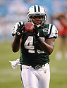 JASON DAVIS, of the New York Jets in action during the Jets game against the Carolina Panthers  at Bank of America Stadium in Charlotte, N.C.  on August 21, 2010.  The Jets beat the Panthters 9-3 in the second week of preseason games...