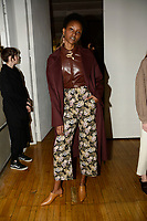Nanushka 11/02/2018<br /> Backstage, New York Fashion Week <br /> FW18 <br /> <br /> New York Fashion Week,  New York, USA in February 2018.<br /> CAP/GOL<br /> &copy;GOL/Capital Pictures