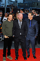 LONDON, ENGLAND - SEPTEMBER 26: Mark Wahlberg, Mike Williams and Peter Berg attending the 'Deepwater Horizon' European Premiere at Cineworld, Leicester Square on September 26, 2016 in London, England.<br /> CAP/MAR<br /> &copy;MAR/Capital Pictures /MediaPunch ***NORTH AND SOUTH AMERICAS ONLY***