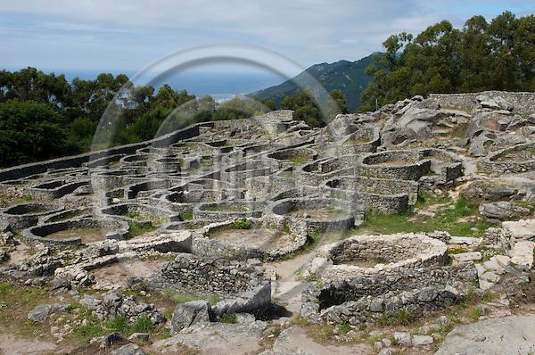 La Guardia / A Guarda-Galicia-Spain, July 31, 2009 -- Remnants of a castro / Celtic settlement, on the slopes of Monte de Santa Trega / Tegra / Tecla --  culture, tourism, archaeology -- Photo: Horst Wagner / eup-images