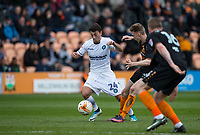 Jack Taylor of Barnet brings down Scott Kashket of Wycombe Wanderers during the Sky Bet League 2 match between Barnet and Wycombe Wanderers at The Hive, London, England on 17 April 2017. Photo by Andy Rowland.