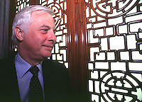 Chris Patten, The former and last governor and commander in chief of Hong Kong before handover to China<br /> <br /> Photos were taken May 1997, before Hong Kong handover to China