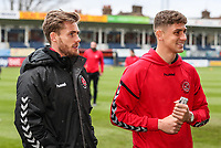 Fleetwood Town's Conor McAleny and Harrison Biggins pictured before the match<br /> <br /> Photographer Andrew Kearns/CameraSport<br /> <br /> The EFL Sky Bet League One - Luton Town v Fleetwood Town - Saturday 8th December 2018 - Kenilworth Road - Luton<br /> <br /> World Copyright &copy; 2018 CameraSport. All rights reserved. 43 Linden Ave. Countesthorpe. Leicester. England. LE8 5PG - Tel: +44 (0) 116 277 4147 - admin@camerasport.com - www.camerasport.com