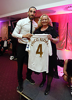 Pictured: Wednesday 10 April 2013<br /> Re: Swansea footballer Angel Rangel and wife Nicky's cancer charity fundraising dinner at the Liberty Stadium.<br /> Chico Flores