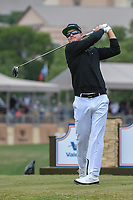 Brian Gay (USA) watches his tee shot on 11 during Round 2 of the Valero Texas Open, AT&T Oaks Course, TPC San Antonio, San Antonio, Texas, USA. 4/20/2018.<br /> Picture: Golffile | Ken Murray<br /> <br /> <br /> All photo usage must carry mandatory copyright credit (© Golffile | Ken Murray)