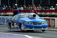Apr. 27, 2012; Baytown, TX, USA: NHRA pro stock driver Chris McGaha during qualifying for the Spring Nationals at Royal Purple Raceway. Mandatory Credit: Mark J. Rebilas-