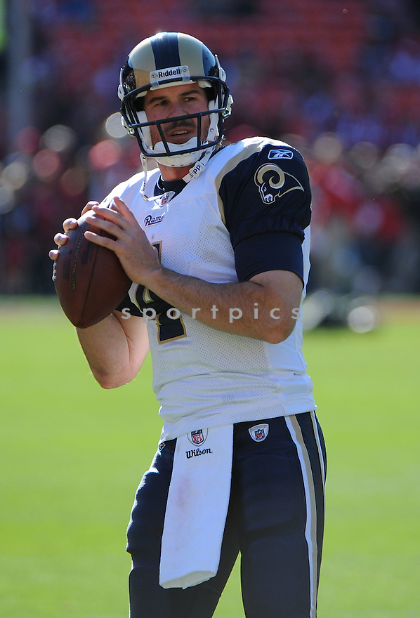 AJ FEELY, of the St. Louis Rams, in action during the Rams game against the San Francisco 49ers on December 4, 2011 at Candlestick Park in San Francisco, CA. The 49ers beat the Rams 26-0.
