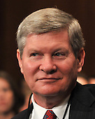 Washington, D.C. - January 8, 2009 -- United States Senator Tim Johnson (Democrat of South Dakota) lstens to the testimony of former United States Senator Tom Daschle (Democrat of South Dakota) as he testifies before the United States Senate Committee on Health, Labor, Education, and Pensions on his nomination to be Secretary of Health and Human Services in Washington, D.C. on Thursday, January 8, 2009..Credit: Ron Sachs / CNP